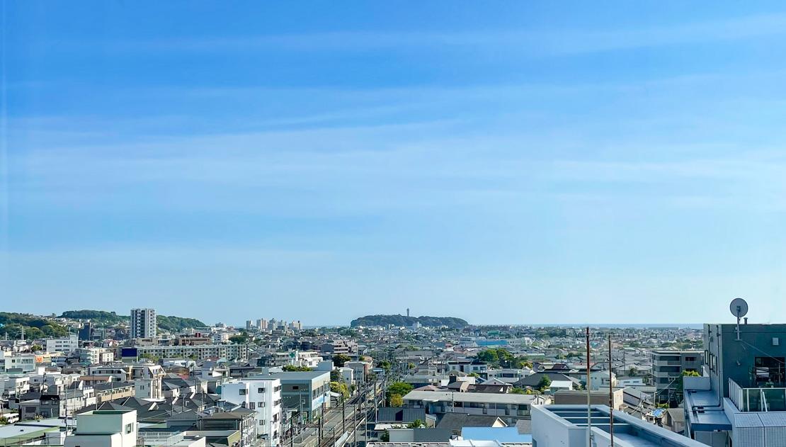 社屋からの湘南の景色
